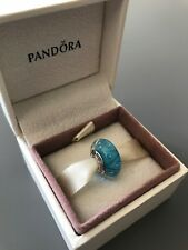 Blue Looking Glass Genuine PANDORA murano charm