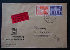 Interessanter Eilboten-Brief MiF Rudolstadt-Leipzig - b5816