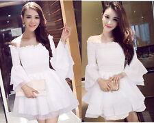 Kawaii Cute Sweet Dolly Gothic Lolita Princess Sleeve Lace Chiffon Dress White