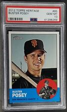 2012 Topps Heritage #85 - Buster Posey - PSA 10 - Pop 1 of 12