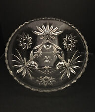Vintage Cut Glass Round Candy/Nut Dish