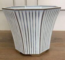 Ceramic Plant Pot Fuji Japan Striped