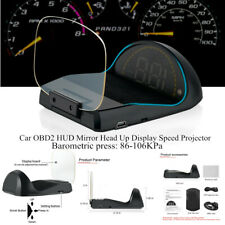 Folding LED Car OBD2 HUD Mirror Head Up Display Speed Projector Speedometer Time