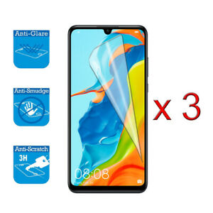 """For Huawei P30 Lite 6.15""""- Screen Protector Shield Cover Guard LCD Film Foil x 3"""