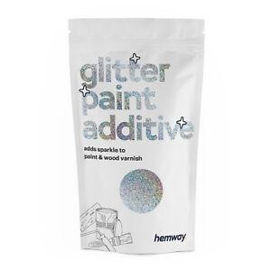 Hemway Silver Holographic Glitter Paint Additive Emulsion Walls Rainbow Effect