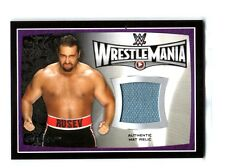 WWE Rusev 2015 Topps Road To WrestleMania 31 Event Used Mat Relic Card