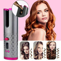 Cordless Auto Rotating Hair Curler Hair Waver Curling Iron Wireless LCD bara