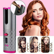 Cordless Auto Rotating Hair Curler Hair Waver Curling Iron Wireless LCD Ceramic