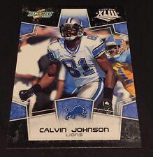 CALVIN JOHNSON 2008 Score BLACK Super Bowl XLIII Parallel 100 MADE Rare LIONS
