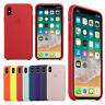 Original Silicone/Leather Case Cover For iPhone X XS Max XR 7 8 Plus Genuine OEM