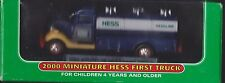 COLLECTIBLE New 2000 Miniature HESS GASOLINE FIRST TRUCK MINI TANKER OIL GAS
