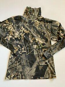 Mossy Oak Shirt Men's Large Hunting Camouflage Long Sleeve Turtleneck logo
