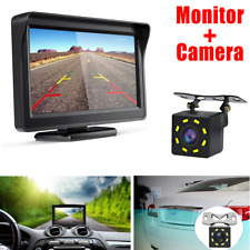 """4.3"""" Backup Camera Mirror Monitor Car Rear View Night Vision Parking System Kit"""