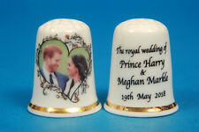 Prince Harry & Meghan The Royal Wedding Date China Thimble B/57