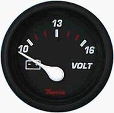 Faria Professional Red Gauge Voltmeter 10 - 16 VDC 14605 MD