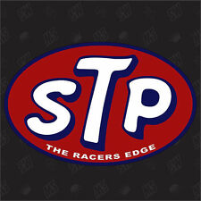 STP The Coureurs Edge Tuning Sticker,Voiture Autocollants Marrants,Course Oil