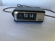 Cosmo Time Corp Lighted Flip Alarm Clock Model F-101 Illuminated Electric