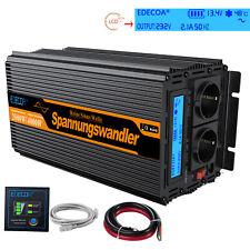 EDECOA Power Inverter 12V 240V 2000W 4000W Pure Sine Wave LCD Display Softstart