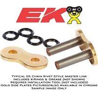 NEW EK 520 Master Link MVXZ Motorcycle Chain GOLD Rivet Type  FREE SHIPPING