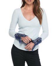Free people Blue Womens Art School Termal Knit, sz XS Blouse