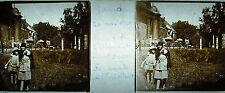 Targa stereoscopico fotografia rovine di l'Abbaye Saint Bavo Ghent 1929