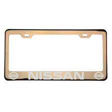Laser Engraved Fit Nissan Car Rose Gold License Plate Frame T304 Stainless Steel