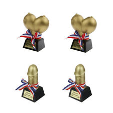 4pcs Novelty Hen Night Bachelor Party Prop Willy Boobs Breast Trophy Funny Prize