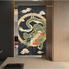 Noren Japanese Divider Tapestry Wall Hanging Door Curtains Chinese Loong Dragon