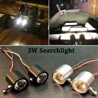 Waterproof LED Headlight Spotlight Searchlight For Traxxas TRX4 SCX10 D90 RC Car