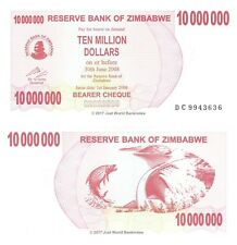 Zimbabwe 10 Million Dollars 2008 P-55 Banknotes UNC