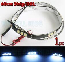 1pc LED DAYTIME RUNNING LIGHT STRIPS DRL 5050 SMD FLEXIBLE 60cm COOL WHITE 50 45