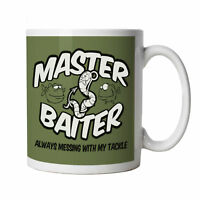Master Baiter Funny Fishing Mug - Gift for Him Dad, Fathers Day, Birthday