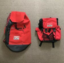 Vintage Marlboro Unlimited Red/Black Large Shoulder Bag BackPack Bundle