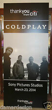 ☆ Special Coldplay Ghost Stories Concert Poster 3/23/2014 Sony Picture Studios