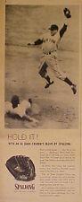 1956 Al Dark New York Yankees Spalding Baseball Gloves Vintage Sports Photo Ad