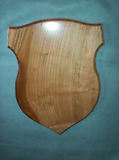 Handmade Cherry Wood Badge Deer Taxidermy Antler Wall Plaque Mount Supplies