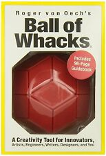 BALL OF WHACKS Creativity Tool Magnetic Blocks Ball Puzzle Brain Teaser RED