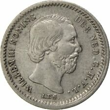 [#59283] Munten, Nederland, William III, 5 Cents, 1850, ZF+, Zilver, KM:91