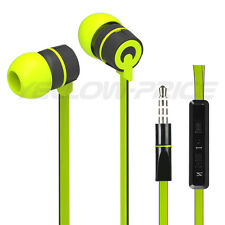 In-Ear Style Stereo 3.5mm Jack Earbuds Earphones w/ Mic ON/OFF Earphone Green