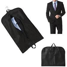 Black Suit Dress Coat Garment Storage Travel Carrier Bag Cover Hanger Protector