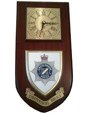 Lincolnshire Police Shield Wall Plaque Clock