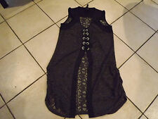 TS Stunning Sleeveless Crocheted/Lace Knee Length Top sz XS