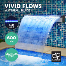 Gardeon LED Light Water Blade Feature Stainless Steel Waterfall Cascading 60CM