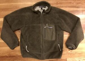 RARE MENS PATAGONIA RETRO X PILE JACKET SMALL OLIVE GREEN WIND PROOF PEF SYSTEM