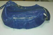 Jessica Simpson purse women faux-leather shoulder tote conceal-carry-pocket blue