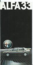 Alfa Romeo 33 1983 Brochure Depliant Prospekt Italian Language + insert