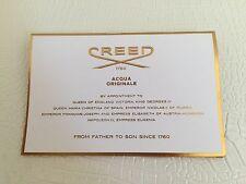 Authentic NEW CREED PARIS IRIS TUBEREUSE Fragrance Eau de Pafum Sample 0.07oz
