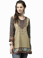 Ladies Indian Pakistani Bollywood Printed Designer Wear Short Kurti Tunic Kurta