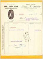 """NANTES (44) USINE de PNEU / PNEU SUPER INDIA """"J. & P. HUTCHISON"""" en 1935"""