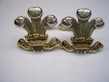 New 9ct yellow and white Gold PRINCE OF WALES FEATHERS Men's Cufflinks.